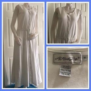 All Week Long White Cotton Maxi Dress S